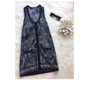 Kimchi Blue Women Razor Blue & Gray Vest XS